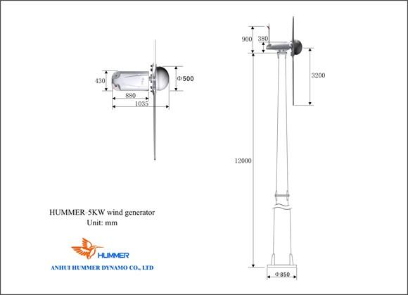 H6.4-5KW Grid Tied Wind Turbine