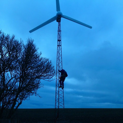H6.4-5kw wind-solar-diesel hybrid generator system