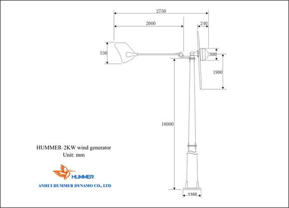Hummer 2KW Small Wind Turbine
