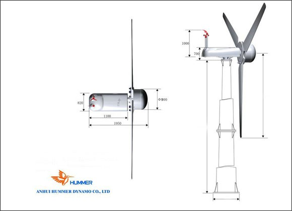 Hummer 30KW Home Wind Power